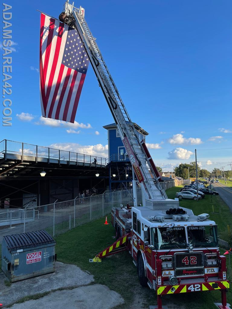 Tower 42 Displaying the Flag at the Mars Athletic Complex
