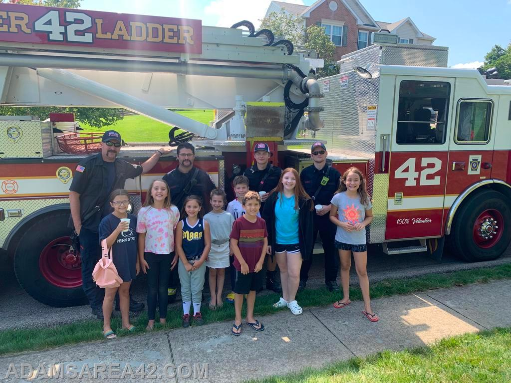 The kids from the lemonade stand in Adams Ridge