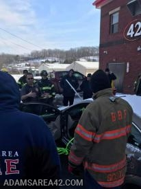 Man vs Machine: Crews practicing a vehicle extrication with fence pole impalement
