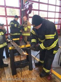 Man vs Machine: Captain Doug Mellinger practicing with the acetylene torch