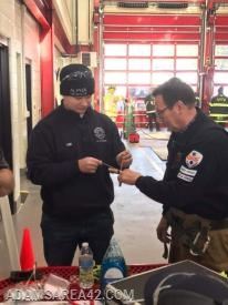 Man vs Machine: FF John Kim (228 Wexford) removing a ring from a finger